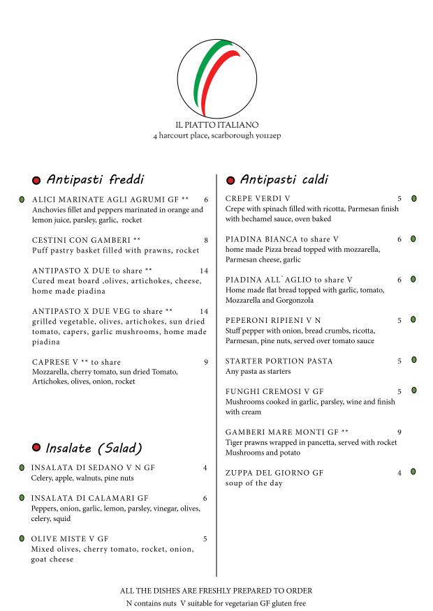 menu march 18