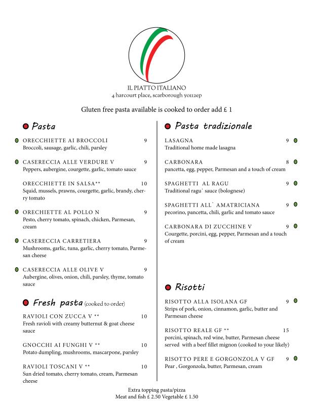 menu march 182