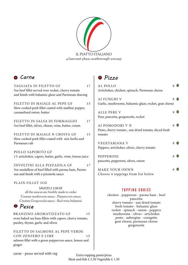 menu march 183