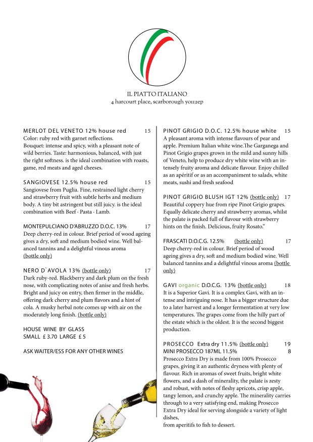 menu march 2018